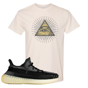Yeezy Boost 350 v2 Carbon T Shirt | All Seeing Eye, Natural