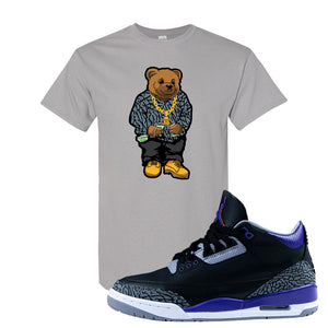 Air Jordan 3 Court Purple T Shirt | Sweater Bear, Gravel