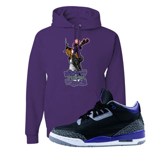 Air Jordan 3 Court Purple Hoodie | Don't Hate The Playa, Deep Purple