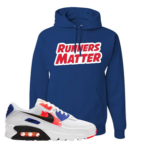 Air Max 90 Paint Streaks Hoodie | Runners Matter, Royal Blue