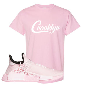 NMD Hu Tonal Pink T Shirt | Crooklyn, Light Pink
