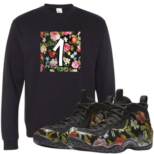 Wear this sneaker matching crewneck to match your Air Foamposite One Floral sneakers. Match your floral foams today!