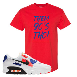Air Max 90 Paint Streaks T-Shirt | Them 90s Tho, Red