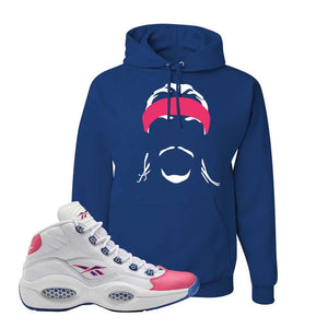 Question Mid Pink Toe Hoodie | Headband Corn Rows, Royal