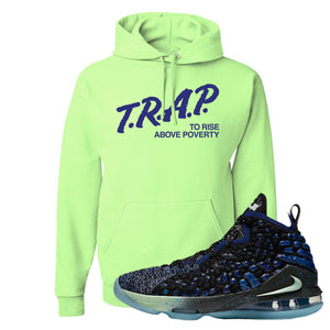 LeBron 17 Constellations Hoodie | Trap To Rise Above Poverty, Neon Green