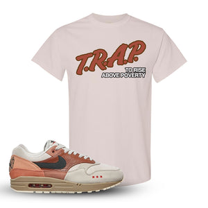 Air Max 1 Amsterdam City Pack Sneaker Natural T Shirt | Tees to match Nike Air Max 1 Amsterdam City Pack Shoes | Trap To Rise Above Poverty