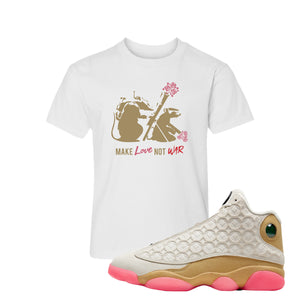 Jordan 13 Chinese New Year Kid's T-Shirt | White, Army Rats