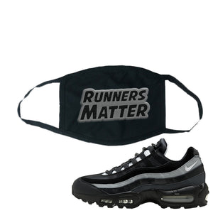 Air Max 95 Essential Black And Dark Smoke Grey Face Mask | Runners Matter, Black