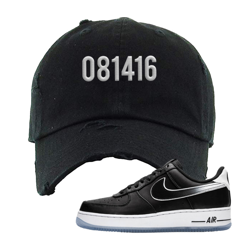 Colin Kaepernick X Air Force 1 Low Distressed Dad Hat | Black, 081416