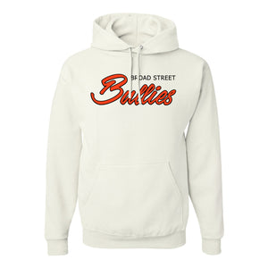 Broad Street Bullies Pullover Hoodie | Broad Street Bullies White Pullover Hoodie the front of this pullover hoodie has the bullies script