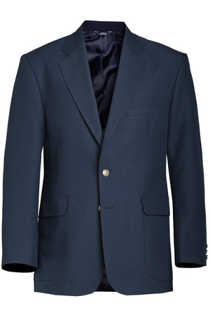 the Police Public Safety | Single Breasted Uniform Blazer Jacket | Navy Blue Value Polyester Men's Formal Jacket has a single gold button and a classic look