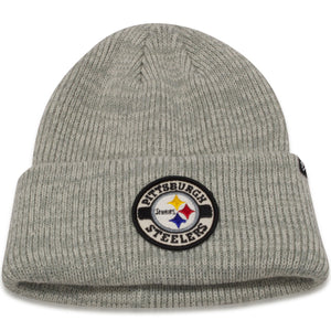 Pittsburgh Steelers Plainfield Cuff Heather Gray Knit Beanie