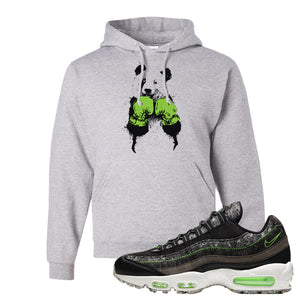 Air Max 95 Black / Electric Green Hoodie | Boxing Panda, Ash