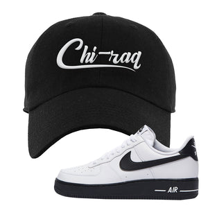 Air Force 1 Low White Black Dad Hat | Black, Chiraq