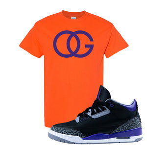 Air Jordan 3 Court Purple T Shirt | OG, Orange