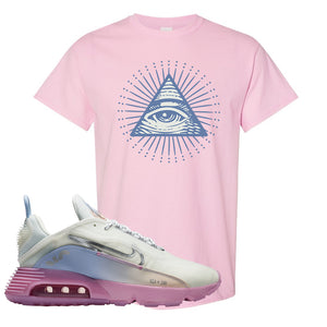 Air Max 2090 Airplane Travel T Shirt | All Seeing Eye, Light Pink
