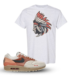 Air Max 1 Amsterdam City Pack Sneaker Ash T Shirt | Tees to match Nike Air Max 1 Amsterdam City Pack Shoes | Indian Chief