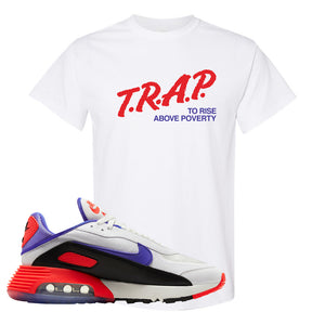 Air Max 2090 Evolution Of Icons T Shirt | Trap To Rise Above Poverty, White