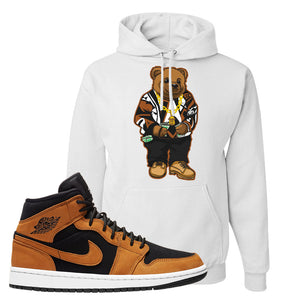 Air Jordan 1 Mid Wheat Hoodie | Sweater Bear, White