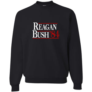 Standard Issue Reagan Bush '84 Black Grunt Life Crewneck Sweater