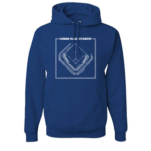 Connie Mack Pullover Hoodie | Connie Mack Stadium Royal Blue Pullover Hoodie