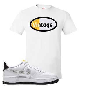 Air Force 1 T Shirt | White, Vintage Oval