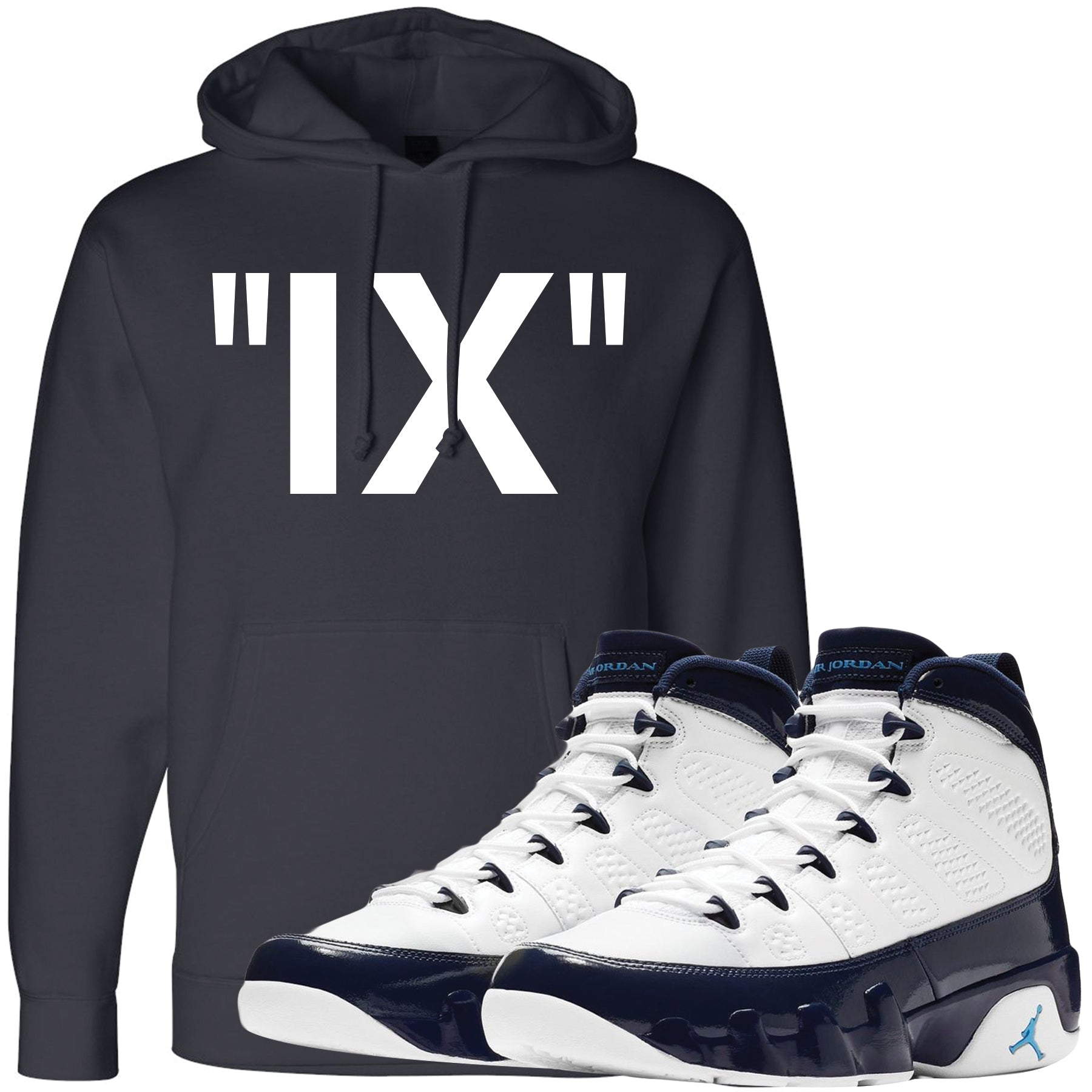 7bfaf13cf403d3 Wear your Jordan 9 All Star UNC Blue Pearl sneaker matching hoodie to match  your pair