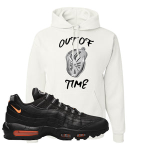 Air Max 95 Black/Orange Hoodie | Out Of Time, White