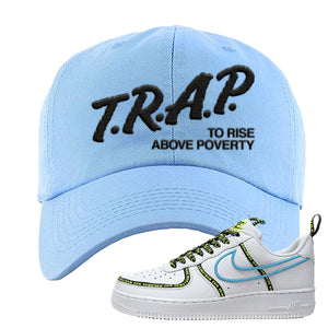 Air Force 1 '07 PRM 'Worldwide Pack' Dad Hat | Light Blue, Trap To Rise Above Poverty