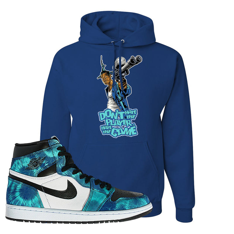 Air Jordan 1 WMNS 'Tie-Dye' Hoodie | Royal Blue, Don't Hate The Playa