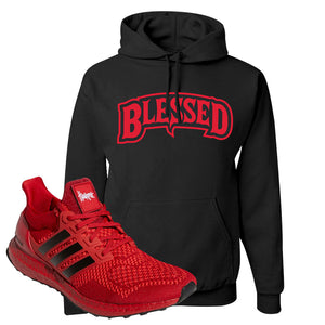 Ultra Boost 1.0 Nebraska Hoodie | Blessed Arch, Black