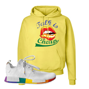 NMD R1 Pride Hoodie | Yellow, Talk Is Cheap