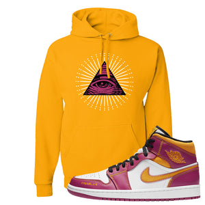 Air Jordan 1 Mid Familia Hoodie | All Seeing Eye, Gold