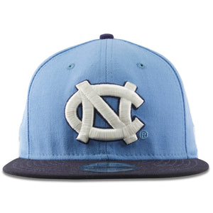 Embroidered on the front of the UNC snapback hat is the UNC logo in white