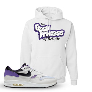 Air Max 1 DNA Series Sneaker White Pullover Hoodie | Hoodie to match Nike Air Max 1 DNA Series Shoes | Fresh Princes Of Bel Air