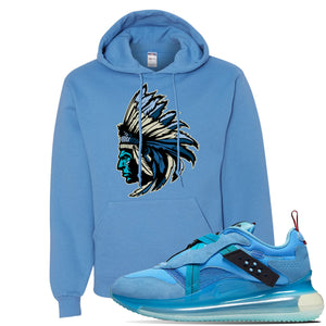 Air Max 720 OBJ Slip Light Blue Hoodie | California Blue, Indian Chief