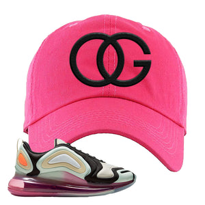 Air Max 720 WMNS Black Fossil Sneaker Pink Dad Hat | Hat to match Nike Air Max 720 WMNS Black Fossil Shoes | OG