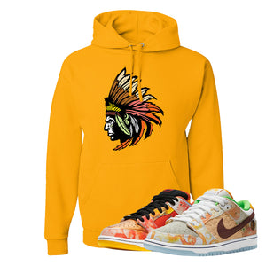 SB Dunk Low Street Hawker Hoodie | Indian Chief, Gold