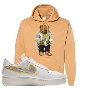 Air Force 1 Low 07 LX White Gold Hoodie | Sweater Bear, Old Gold