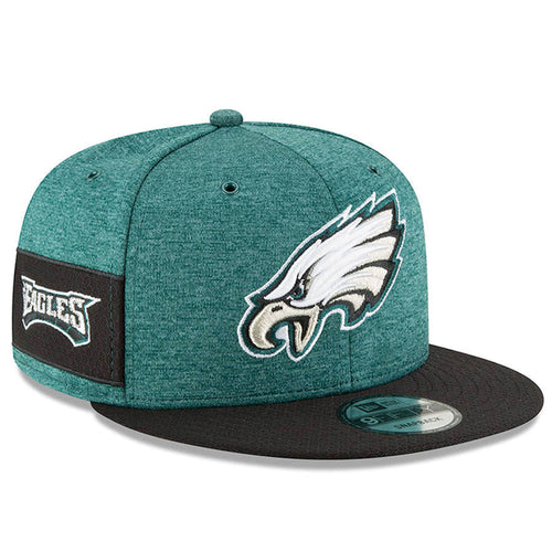 Philadelphia Eagles 2018 On Field 9FIFTY Green on Black Snapback Hat