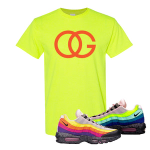 Airmax 95 '20 For 20' Sneaker Safety Green T Shirt | Tees to match Nike Airmax 95 '20 For 20' Shoes | OG