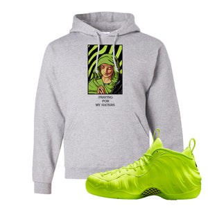 Air Foamposite Pro Volt Hoodie | God Told Me, Ash