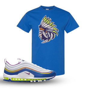 Air Max 97 'Easter' Sneaker Royal T Shirt | Tees to match Nike Air Max 97 'Easter'Shoes | Indian Chief