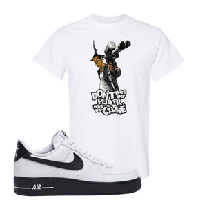Air Force 1 Low White Black T Shirt | White, Don't Hate The Playa