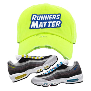 Air Max 95 QS Greedy Distressed Dad Hat | Neon Lime, Runners Matter