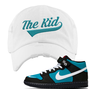 SB Dunk Mid Griffey Distressed Dad Hat | White, The Kid