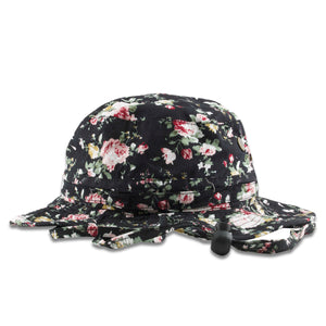 front of Floral Bucket hat | Blank boonies Flower hat for embroidery | Floral Beanie