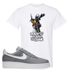 Air Force 1 Low Wolf Grey White T Shirt | White, Don't Hate The Playa