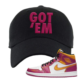 Air Jordan 1 Mid Familia Dad Hat | Got Em, Black