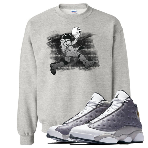 Jordan 13 Atmosphere Grey Astronaut Jump Light Gray Crewneck
